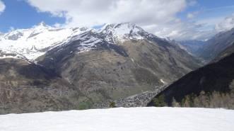 2 Looking back down the Zermatt valley