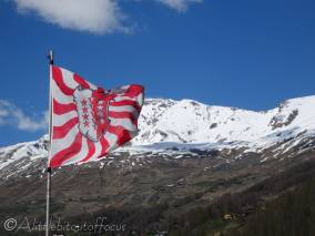 30 Valaisan flag and Col de Torrent (R)