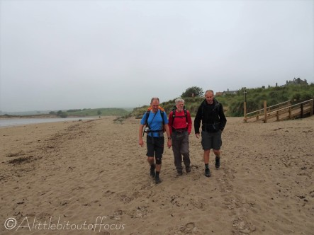 1 Pete, Liam and Colin setting out along Alnmouth beach