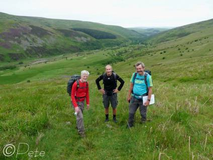 12 Liam, Colin and me above the Harthope valley