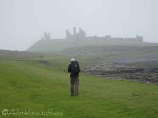 16 Liam heading for Dunstanburgh Castle