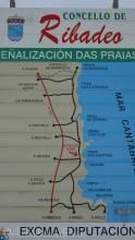 22 Ribadeo Coastline Map