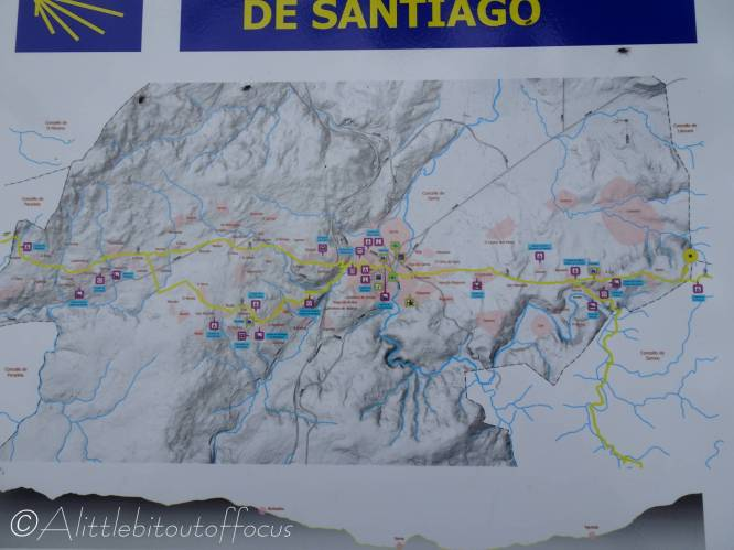 36 Camino section map