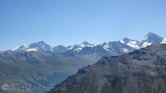 13 4,000m peaks (Weisshorn, Zinalrothorn, Obergabelhorn and Dent Blanche)