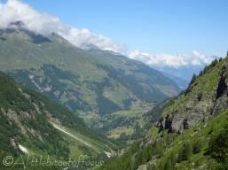 8 View down the valley to La Forclaz (VS)