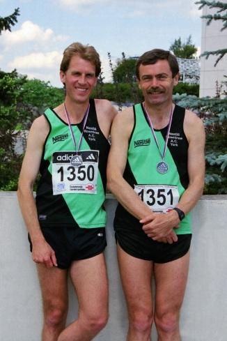 Pete and me, Prague Marathon May 2000