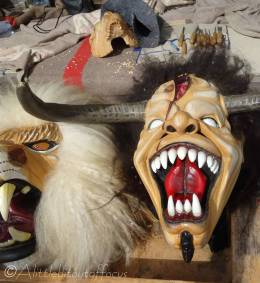 12 Wooden carnival masks