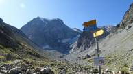 2 Signpost with Mont Collon behind