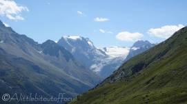 26 Mont Collon and glacier