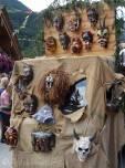 45 Evolène Carnival, carved wooden masks