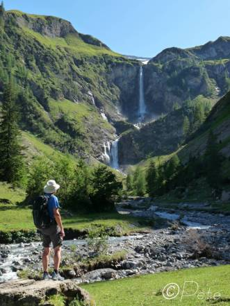25 Admiring the waterfall