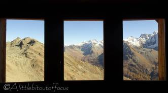 14 View from inside mountain hut
