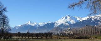 29 Rhone valley near Sion - Grand Chavalard (L) Haut de Cry (R)