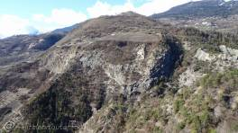 40 Bisse de Clavau and path across the valley