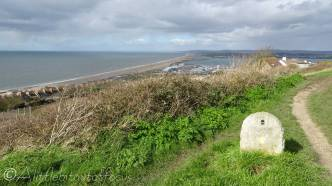 12 Looking back over Chesil Beach