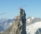 17 Climbers on the Aiguilles de la Tsa