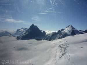 18 Monte Rosa (L), Matterhorn and Dent d'Hérens (R)