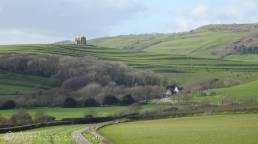 19 Approaching Abbotsbury with St Catherine's Chapel on the hill