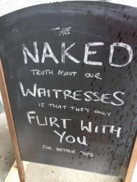 9 Pub blackboard