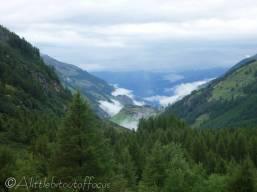 1 Looking back down the Val d'Hérens towards La Forclaz (VS)