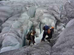 10 Climbing off the glacier