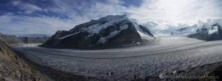 17 Panoramic view from the Konkordia hut
